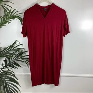 Eileen Fisher Red Dress Womens Size XS